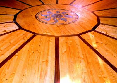 Création d'un plancher de Yourte en bois et béton ciré