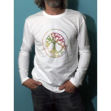GANGE - T-shirt ML - Logo arc en ciel