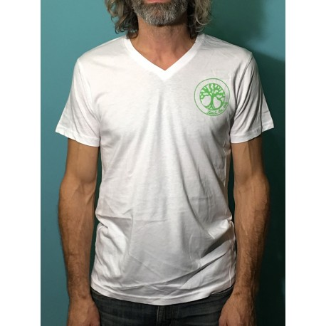 VERTU - T-shirt m/c col V - Logo vert