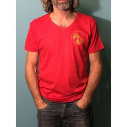 VERTU - T-shirt m/c col V - Logo Arc en ciel