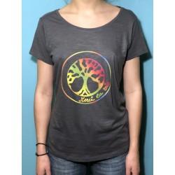 DIVINE - T-shirt col échancré - Logo Arc en ciel