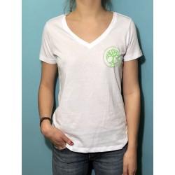 VIE - T-shirt m/c col V - Logo vert