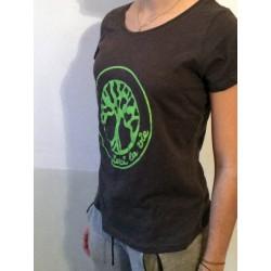 DIVINE - T-shirt col échancré - Logo Vert