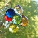 6 prismes cristal de couleur