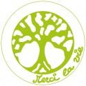 Symboles Merci La Vie à imprimer sur papier autocollant (PDF) Vert