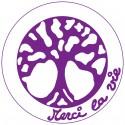 Symboles Merci La Vie à imprimer sur papier autocollant (PDF) Violet