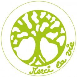 Symboles Merci La Vie 15cm à imprimer sur papier autocollant (PDF) Vert