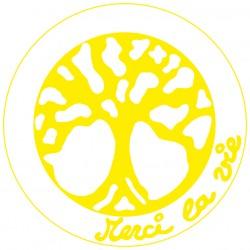 Symboles Merci La Vie 15cm à imprimer sur papier autocollant (PDF) Jaune