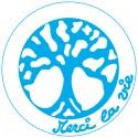 Symboles Merci La Vie 15cm à imprimer sur papier autocollant (PDF) Indigo