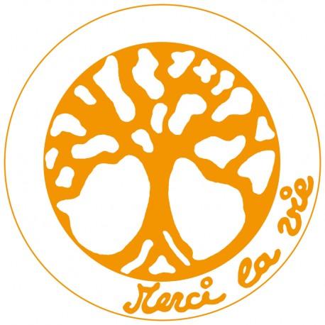 Autocollant Merci La Vie Orange - A télécharger