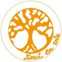Symboles Merci La Vie 15cm à imprimer sur papier autocollant (PDF) Orange