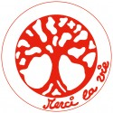 Symboles Merci La Vie 15cm à imprimer sur papier autocollant (PDF) Rouge